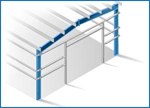 Double Slope Straight Column Frame
