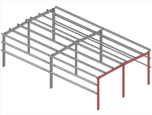 Double-Slope-Straight-Column-Frames-Multispan