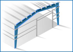 Double Slope Tapered Column Frame