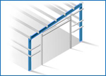 Single Slope Straight Column Frame