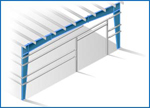 Single Slope Tapered Column Frame